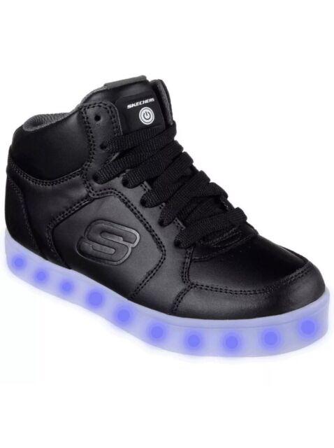 Skechers Kids Energy Lights Mid Top Black