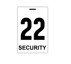 Security-guard-crowd-controller-number-tag-ID-plastic-PVC-card-high-quality
