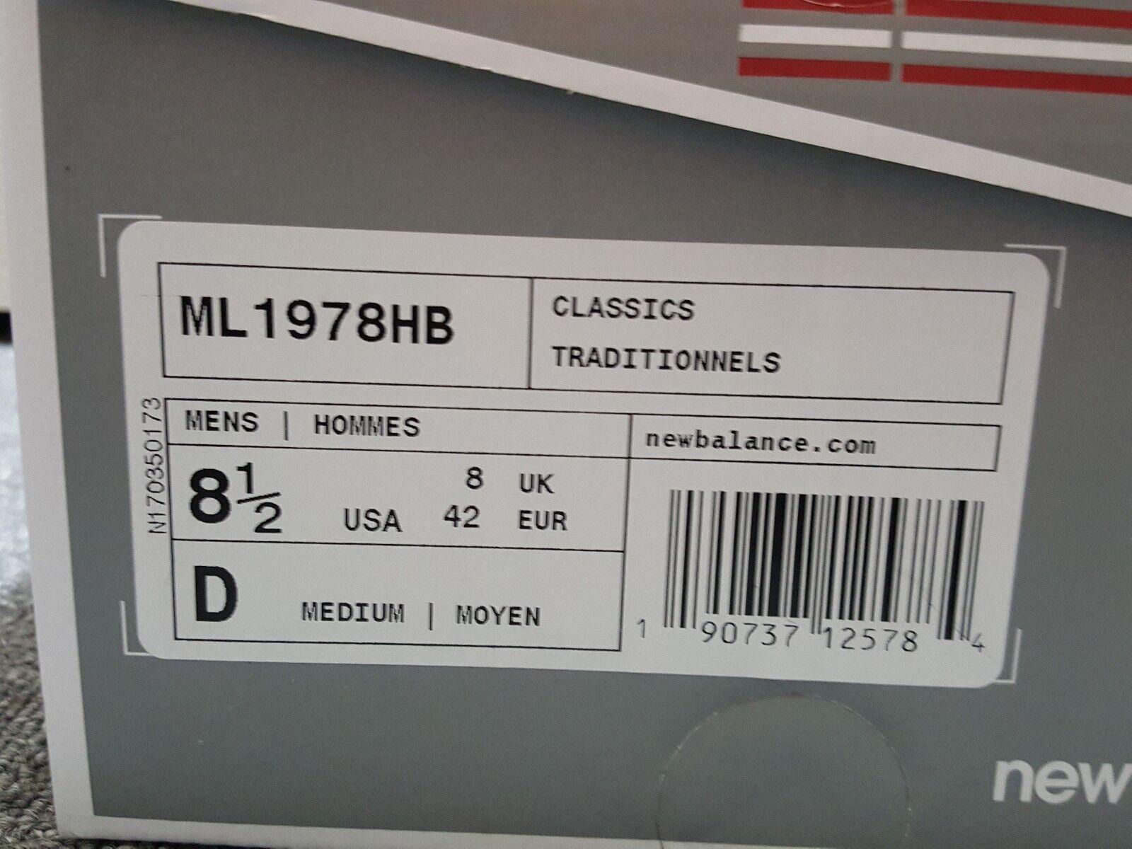 150 New Balance Red Salmon 1978 Sz RARE Made In USA Shoes Sz 1978 8.5 ML1978HB NIB 3ed60f