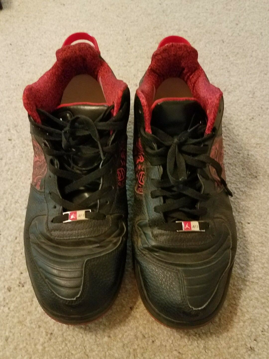 Nike Air Jordan Fusion 20 black red size 12 Best of Both Worlds sneakers shoes Cheap women's shoes women's shoes