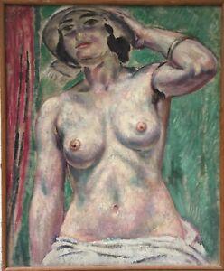 Augustin-Carrera-huile-sur-toile-signee-1923-Opera-de-Marseille-art-decor-Musee