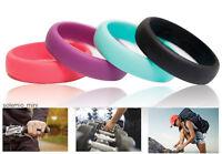 Ring Women Wedding Band Silicone Sport Engagement Fashion Work Gym Safe Gift Set