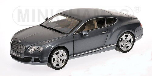 Scale model 1 18 Bentley Continental GT, grey met 2011