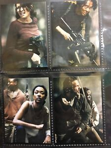 Details About The Walking Dead Season 4 Part 2 Complete 4 Card Poster Chase Set Maggie Greene Show Original Title