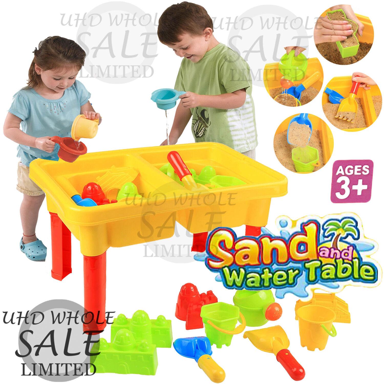 Childrens Girls Pink Sand /& Water Table Kids Outdoor Garden Sandpit Toy Set 316