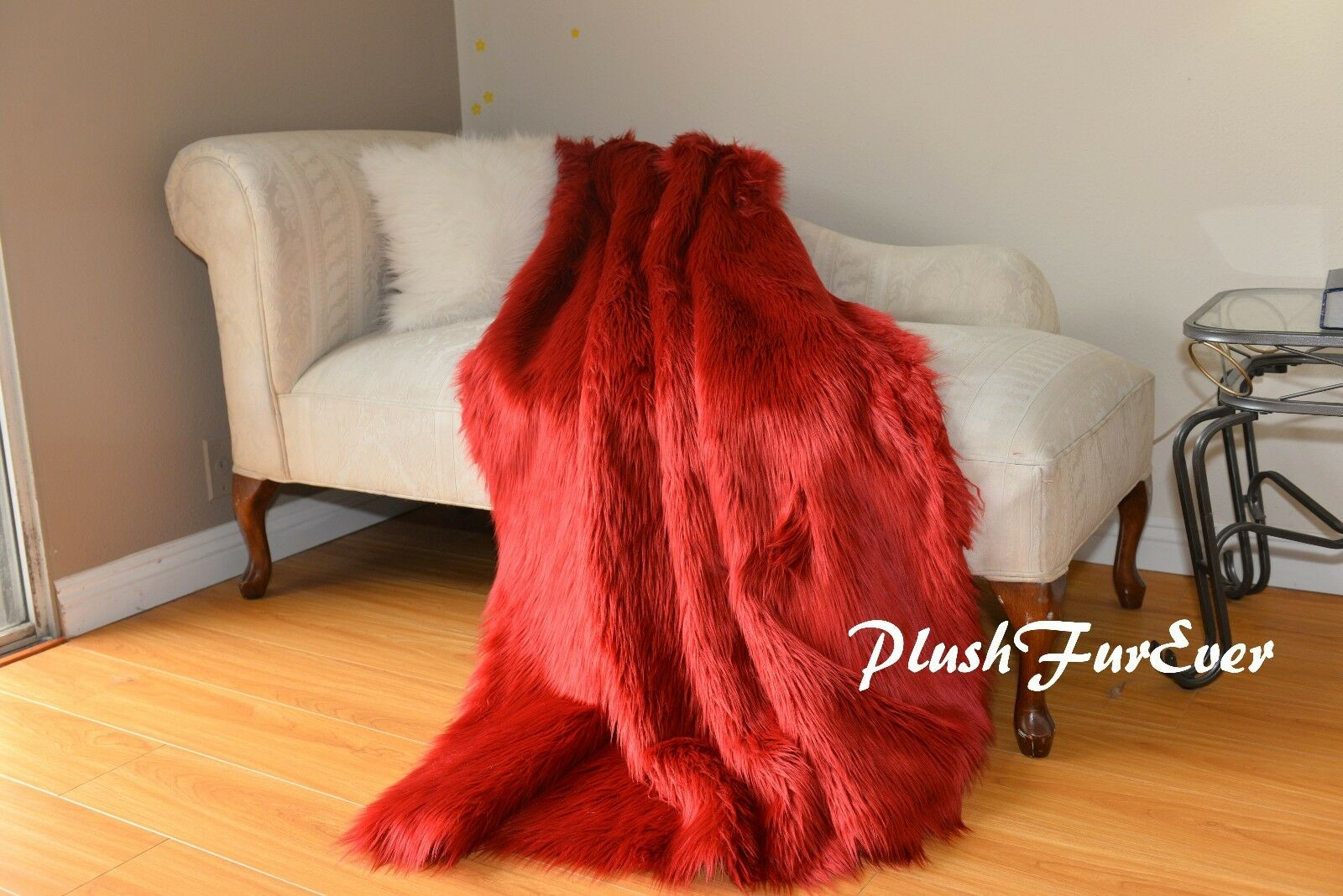 rosso Shaggy Comforter Throw Blankets Luxury Faux Fur Decor Home Accent Sheepskin