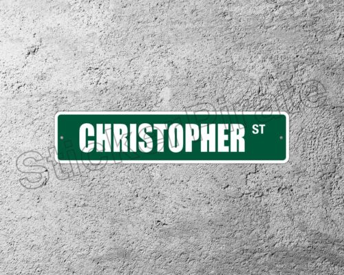 "*Aluminum* Christopher 4/"" x 18/"" Metal Novelty Street Sign  SS 898"