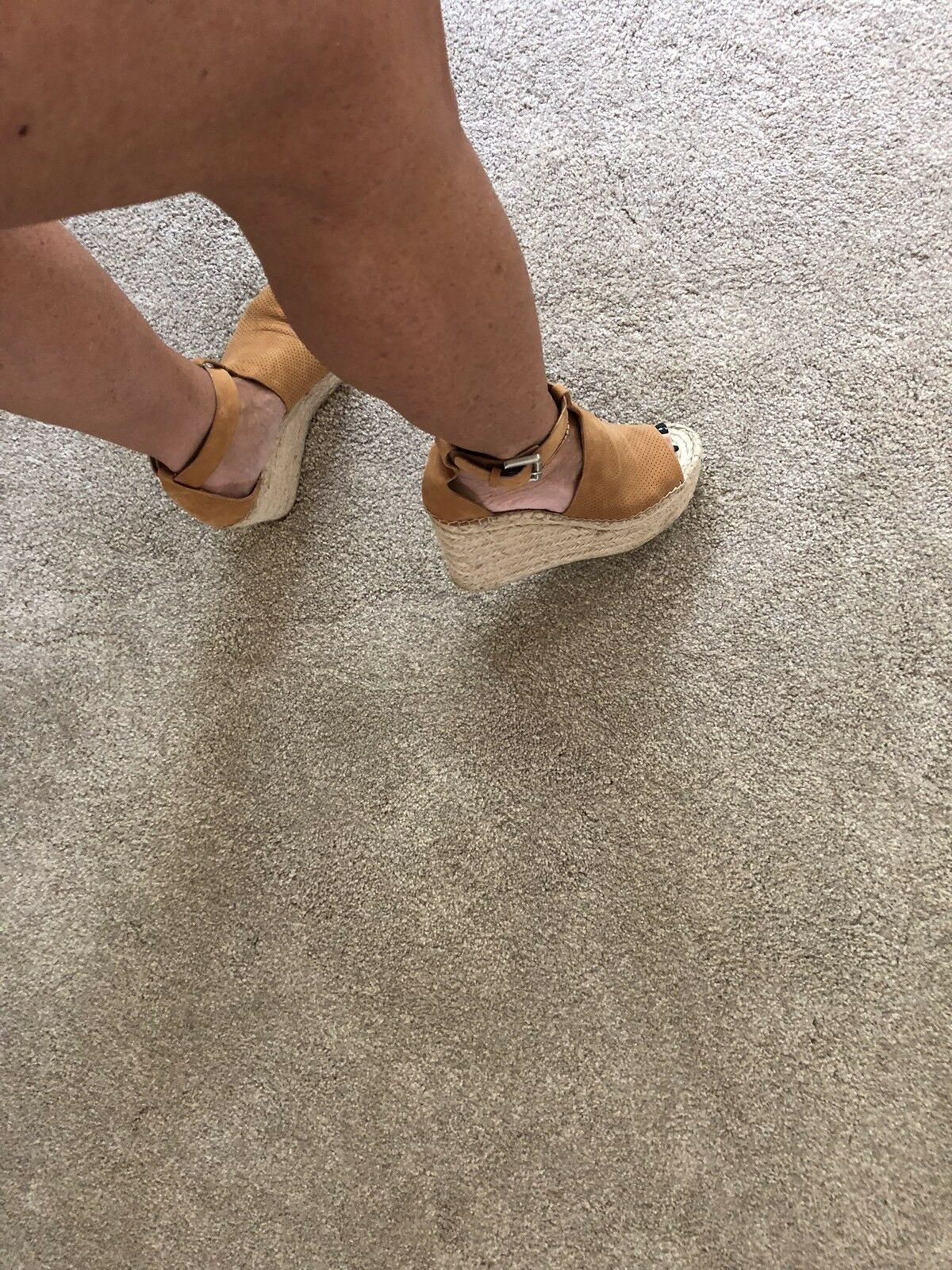 "Marc ""Annie"" Fisher Perforated Espadrilles 7.5US ""Annie"" Marc Style Sandales Wedges 76a150"