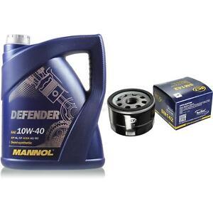 Cambio-de-aceite-set-5-litros-MANNOL-defender-10w-40-sct-filtro-aceite-Service-10164242