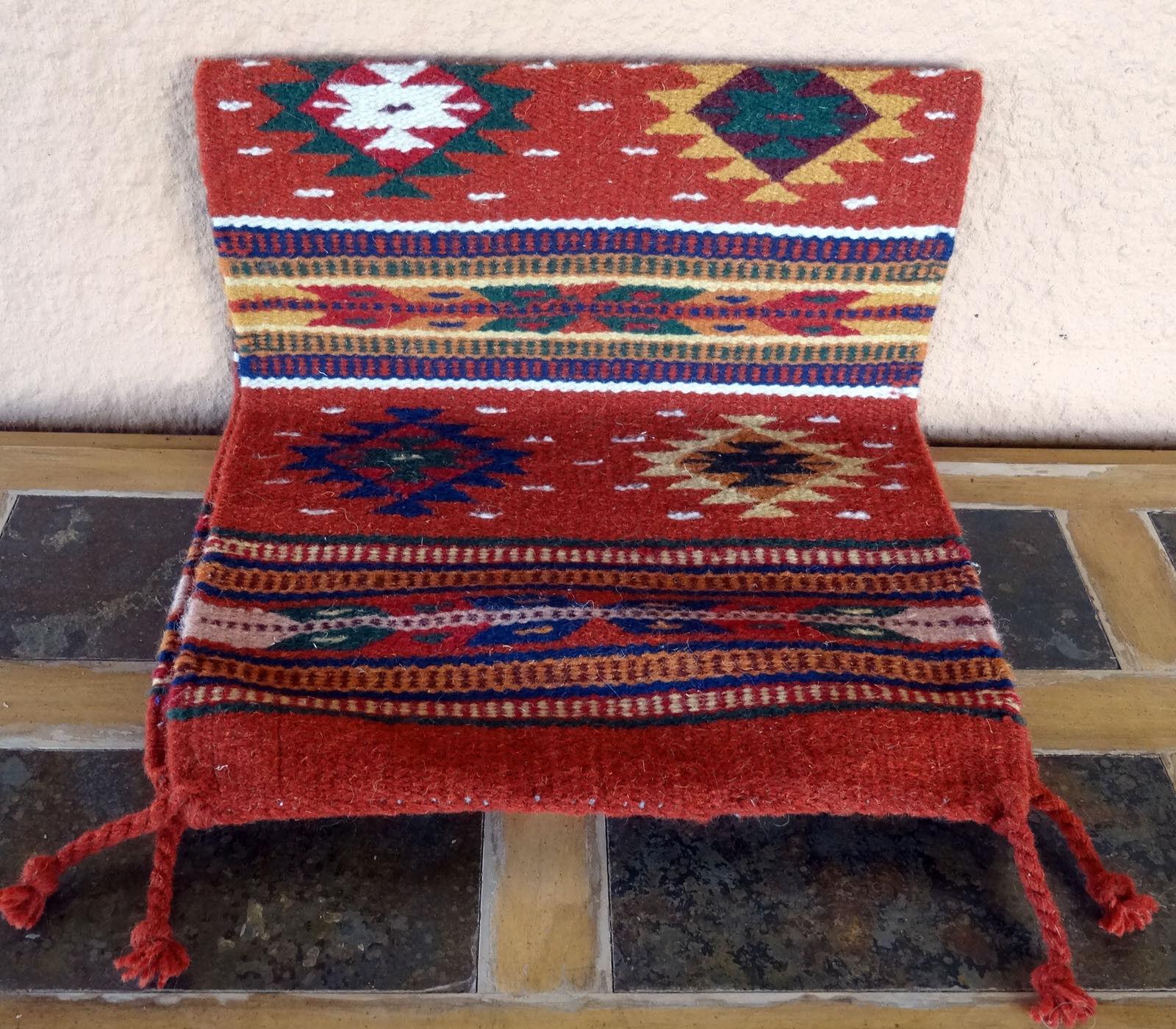 Sud-Ouest Table Runner 37-16X80 tissés à la main au sud-ouest laine motif géométrique