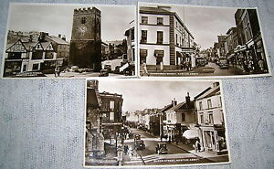 Lot of 3 Vintage Newton Abbot, England Real Photo Postcards