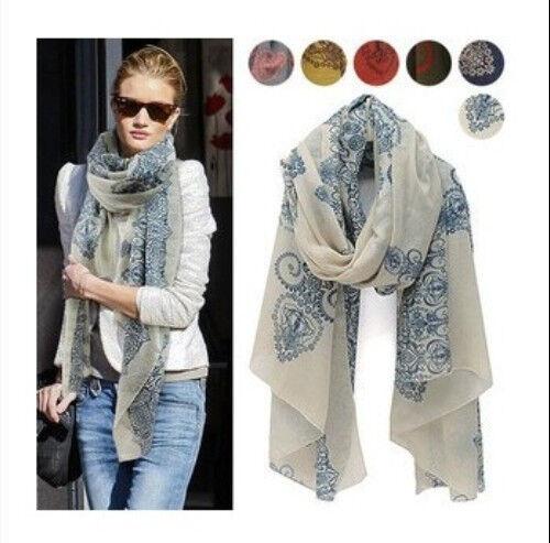 Women Fashion Long Silk Cotton Scarf Wrap Ladies Shawl Girls Large Scarves