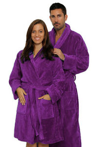 Shawl Cotton Terry Bathrobe for Women and Men Robe, Custom Monogram available