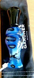 Duck-Call-Buck-Gardner-Full-Acrylic-Double-Reed-Duck-Call-Blue-and-Black-Swirl