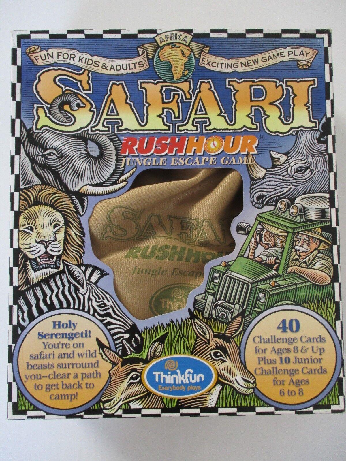 Ravensburg Safari Rush Hour Jungle Escape Game COMPLETE - RARE
