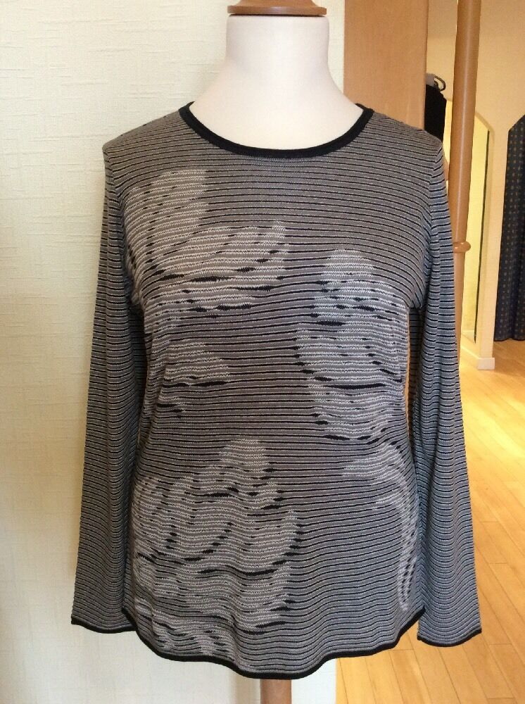 Olsen Sweater Size 16 BNWT Navy Taupe And Cream Stripe RRP  NOW