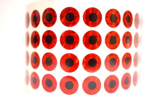 selbstklebend RED SCALE 50 Stück 2,99 € TOP!! Ø 9,4 mm flach Augen