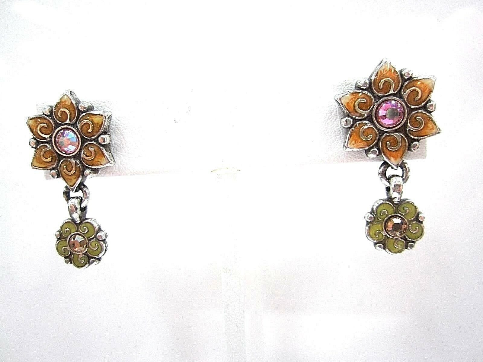 RETIRED BRIGHTON  SWAROVSKI CRYSTAL POST DANGLE EARRINGS