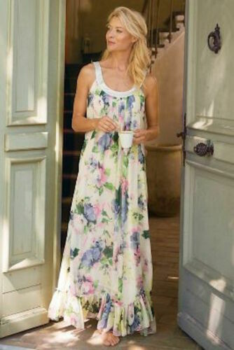 SOFT SURROUNDINGS Giverny Gown Floral Long Nightgo