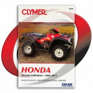 2005-2011-Honda-TRX500-Foreman-Repair-Manual-Clymer-M206-Service-Shop-Garage
