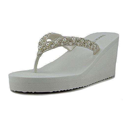 89822e359cdf6b Buy Women s Touch UPS Shelly Thong Wedge Sandal 7 M online