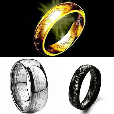 Lord of the Rings The One Ring LOTR Titanium Steel Wedding Aragon Ring Fashion