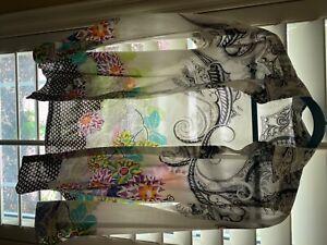 etro blouse Size 40 long sleeve button down