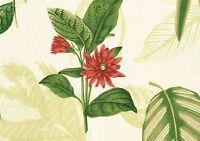 Kravet Fabric Sketchbook Celery Green Red Gold Blue  Cotton Drapery Upholstery