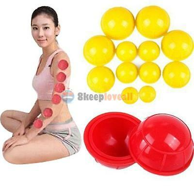 12Pcs Silicone Vacuum Cups Set Therapy Anti Cellulite Cupping Massage Kit Health