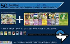 Mega 50 Card Lot New Pokemon BULK w10 HOLOS RARES! Shaymin?Charizard?Mew? ?+EX?