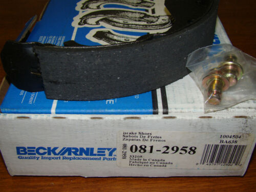 BECK ARNLEY 081-2958 DRUM BRAKE SHOES NOS
