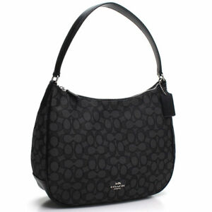 Image is loading NWT-Coach-F29959-Signature-Jacquard-Zip-Shoulder-Bag- 1c3288182e203