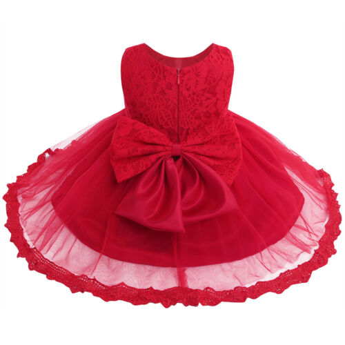 Infant Baby Girl Lace Tutu Flower Dress Pageant Party Birthday Wedding Princess
