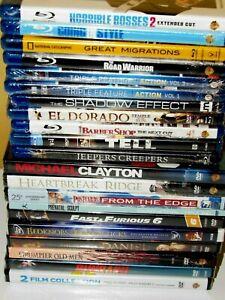 Bulk-Lot-of-21-BRAND-NEW-BLU-RAY-DVD-Movies-Disney-Eastwood-Action-NatGeo-Comedy