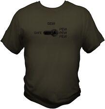 Safety Selector Switch Pew Pew T Shirt Assault Rifle AR15 AK47 M4 Magpul milspec