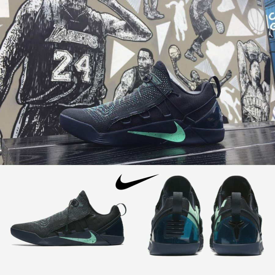 NIKE KOBE A D NXT Mambacurial Men Running Basketball Shoes Navy Igloo  882049-400. black