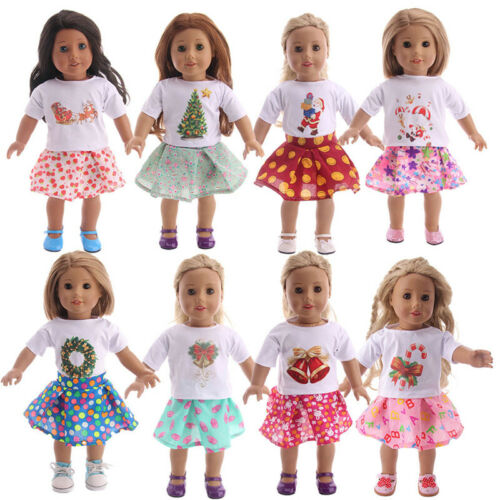 """Hot Latest Handmade Doll Christmas Set Fits 18/"""" Inch American Girl Doll Clothes"""