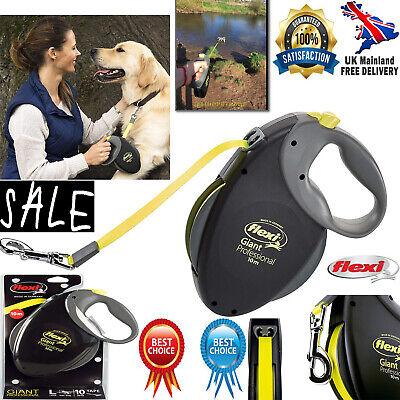 Retractable Dog Pet Lead Leash Extendable Soft Grip Handle Cord /& Tape 5M