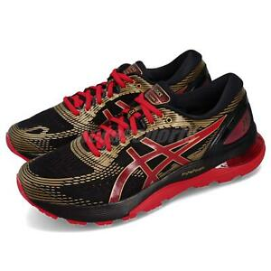 Dettagli su Asics Gel Nimbus 21 Black Classic Red Men Running Shoes Sneakers 1011A257 001