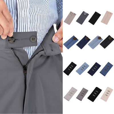 2X Unisex Waist Band Extender Belt Trousers Jeans Skirts Maternity Button Hooks