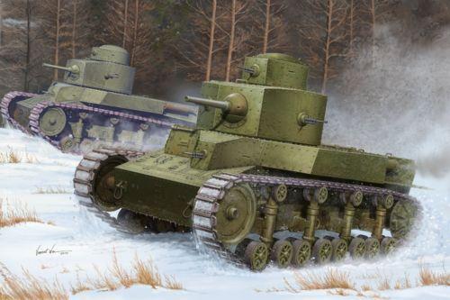 82493 Hobby Boss 1 35 Model Soviet T-24 Medium Tank Kit Plastic Armored Car