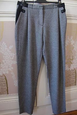 Pantalon à pinces ZARA chiné noir/gris T: M ++++++++