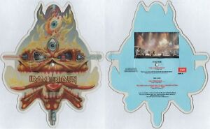 EX-EX-Iron-Maiden-THE-CLAIRVOYANT-VINYL-Shaped-Picture-Pic-Disc