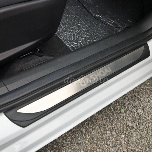 4PC Car Door Sill Threshold Scuff Plates Cover For Nissan Qashqai J11 2015-2019