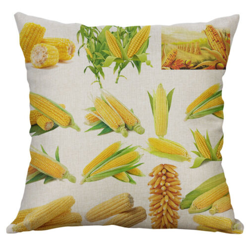 New Cotton Linen Painting vegetable chicken pillow case Cushion Cover Home Decor