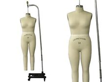 Professional Pro Female Working Dress Form Mannequin Full Size 18 Arm