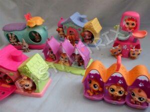 Littlest-Pet-Shop-Lot-of-2-Random-Triplet-House-Accessories-and-6-Petriplet-Pets