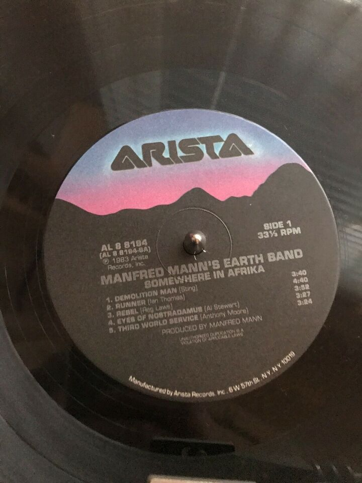 LP, Manfred Mann's Earth Band, Somewhere in Afrika
