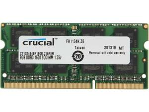 New-8GB-Crucial-SO-DIMM-Laptop-Notebook-RAM-DDR3-PC3-12800-1-35V-CT102464BF160B