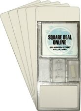 "(300) CDNS14WH20 Tall White CD Long Box Divider Cards Economical 6""x14.5"" 20 Mil"